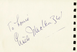 GISELE MacKENZIE - INSCRIBED SIGNATURE CO-SIGNED BY: ALAN BAXTER