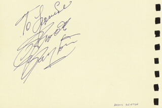Autographs: BROOK BENTON - INSCRIBED SIGNATURE CO-SIGNED BY: LARRY ADLER