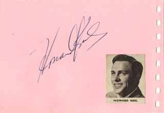 HOWARD KEEL - AUTOGRAPH CO-SIGNED BY: DIANA LYNN