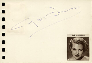 CYD CHARISSE - AUTOGRAPH CO-SIGNED BY: VAN JOHNSON