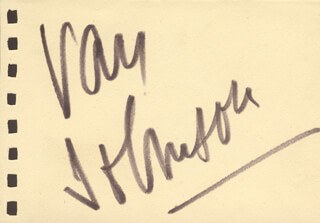 VAN JOHNSON - AUTOGRAPH CO-SIGNED BY: RON RANDELL