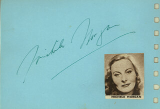 MICHELE MORGAN - AUTOGRAPH CO-SIGNED BY: JOHNNY JOHNSTON