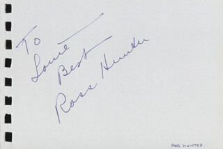 ROSS HUNTER - AUTOGRAPH NOTE SIGNED