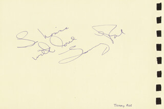 TOMMY ROE - INSCRIBED SIGNATURE CO-SIGNED BY: BRIAN HYLAND
