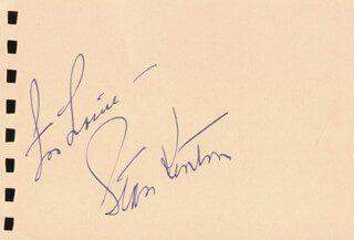 STAN KENTON - AUTOGRAPH NOTE SIGNED CO-SIGNED BY: NATALIE SCHAFER