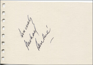 MICHAEL BENTINE - AUTOGRAPH SENTIMENT SIGNED CO-SIGNED BY: GWEN (GWENDOLYN) CARTER