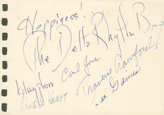 THE DELTA RHYTHM BOYS - AUTOGRAPH SENTIMENT SIGNED CO-SIGNED BY: CARL JONES, KELSEY PHARR, TRAVERSE CRAWFORD, LEE GAINES, RENE DEKNIGHT