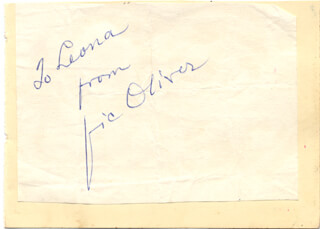 VIC (VICTOR) OLIVER - INSCRIBED SIGNATURE
