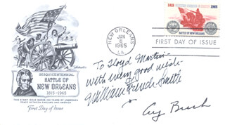 PRESIDENT GEORGE H.W. BUSH - INSCRIBED FIRST DAY COVER SIGNED CO-SIGNED BY: WILLIAM FRENCH SMITH