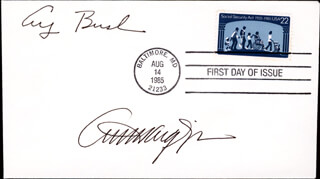 Autographs: PRESIDENT GEORGE H.W. BUSH - FIRST DAY COVER SIGNED CO-SIGNED BY: GENERAL ALEXANDER M. HAIG JR.