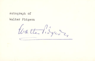 WALTER PIDGEON - POST CARD SIGNED
