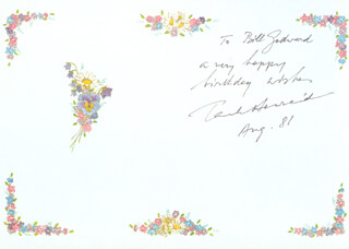 PAUL HENREID - GREETING CARD SIGNED 8/1981