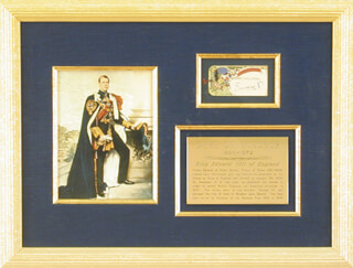 Autographs: KING EDWARD VIII - CHRISTMAS / HOLIDAY CARD SIGNED