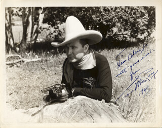 TIM McCOY - AUTOGRAPHED INSCRIBED PHOTOGRAPH 1941