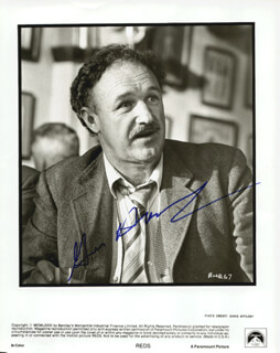 GENE HACKMAN - PRINTED PHOTOGRAPH SIGNED IN INK