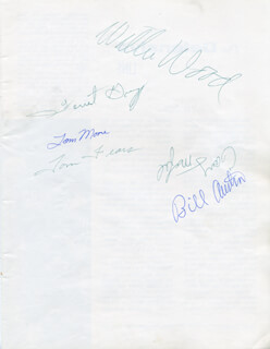 GREEN BAY PACKERS - AUTOGRAPH CIRCA 1962 CO-SIGNED BY: TOM FEARS, FORREST GREGG, WILLIE WOOD, GARY KNAFELC, TOM MOORE, BILL QUINLAN