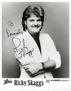 RICKY SKAGGS - AUTOGRAPHED INSCRIBED PHOTOGRAPH