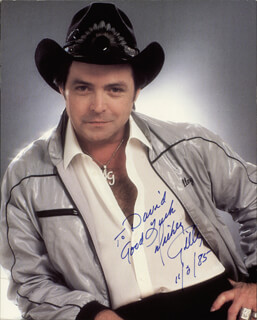MICKEY GILLEY - AUTOGRAPHED INSCRIBED PHOTOGRAPH 11/02/1985