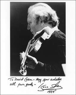 ISAAC STERN - AUTOGRAPHED INSCRIBED PHOTOGRAPH 1987
