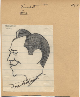 FRANCHOT TONE - CARICATURE SIGNED