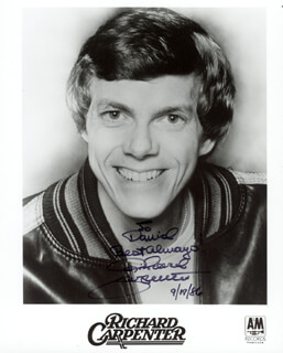RICHARD CARPENTER - AUTOGRAPHED INSCRIBED PHOTOGRAPH 09/17/1986