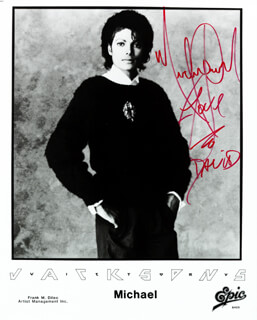 MICHAEL JACKSON - AUTOGRAPHED INSCRIBED PHOTOGRAPH