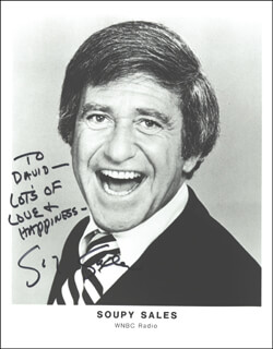 SOUPY SALES - AUTOGRAPHED INSCRIBED PHOTOGRAPH