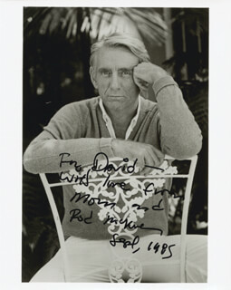 ROD MCKUEN - AUTOGRAPHED INSCRIBED PHOTOGRAPH 9/1985