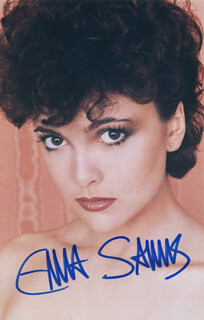 EMMA SAMMS - AUTOGRAPHED SIGNED PHOTOGRAPH