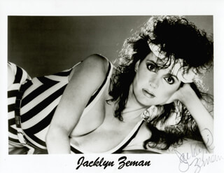 JACKLYN ZEMAN - PRINTED PHOTOGRAPH SIGNED IN INK