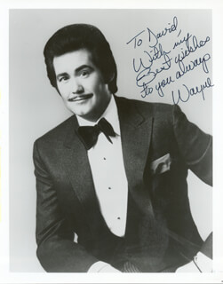 WAYNE NEWTON - AUTOGRAPHED INSCRIBED PHOTOGRAPH