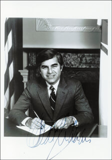 GOVERNOR MICHAEL DUKAKIS - AUTOGRAPHED SIGNED PHOTOGRAPH