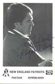 RAYMOND BERRY - AUTOGRAPHED INSCRIBED PHOTOGRAPH