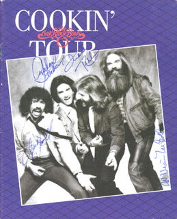 OAK RIDGE BOYS - PROGRAM SIGNED CO-SIGNED BY: OAK RIDGE BOYS (DUANE ALLEN), OAK RIDGE BOYS (JOE BONSALL), OAK RIDGE BOYS (RICH STERBAN), OAK RIDGE BOYS (WILLIAM LEE GOLDEN)