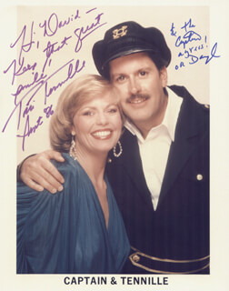CAPTAIN & TENNILLE - AUTOGRAPHED INSCRIBED PHOTOGRAPH 09/1986 CO-SIGNED BY: CAPTAIN & TENNILLE (DARYL DRAGON), CAPTAIN & TENNILLE (TONI TENNILLE)