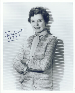 JANE WYATT - AUTOGRAPHED SIGNED PHOTOGRAPH 1987