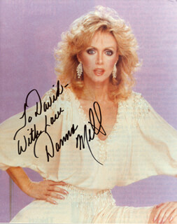 DONNA MILLS - AUTOGRAPHED INSCRIBED PHOTOGRAPH