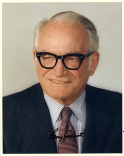 BARRY GOLDWATER - AUTOGRAPHED SIGNED PHOTOGRAPH