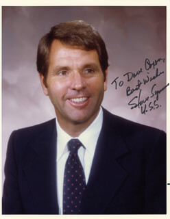 STEVE SYMMS - AUTOGRAPHED INSCRIBED PHOTOGRAPH