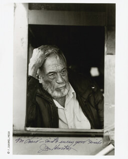 JOHN HUSTON - AUTOGRAPHED INSCRIBED PHOTOGRAPH