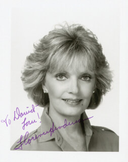 FLORENCE HENDERSON - AUTOGRAPHED INSCRIBED PHOTOGRAPH