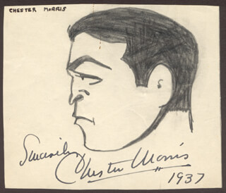 CHESTER MORRIS - CARICATURE SIGNED 1937