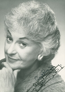 BEATRICE BEA ARTHUR - AUTOGRAPHED INSCRIBED PHOTOGRAPH