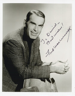 FRED MacMURRAY - AUTOGRAPHED INSCRIBED PHOTOGRAPH