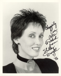 SHELLEY DUVALL - AUTOGRAPHED INSCRIBED PHOTOGRAPH 1986
