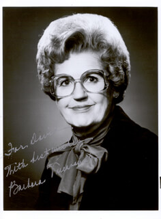 BARBARA VUCANOVICH - AUTOGRAPHED INSCRIBED PHOTOGRAPH