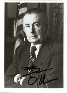 WILLIAM A. BILL O'NEILL - AUTOGRAPHED SIGNED PHOTOGRAPH