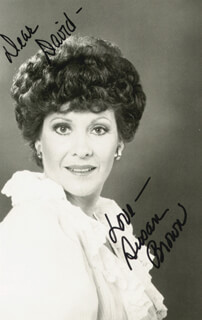 SUSAN BROWN - AUTOGRAPHED INSCRIBED PHOTOGRAPH