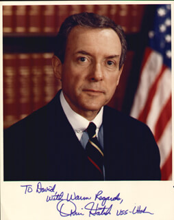 ORRIN G. HATCH - AUTOGRAPHED INSCRIBED PHOTOGRAPH