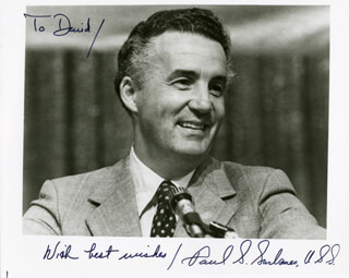 PAUL S. SARBANES - AUTOGRAPHED INSCRIBED PHOTOGRAPH